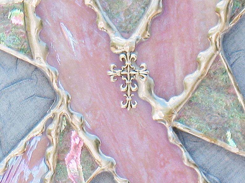 Breast cancer awareness ribbon survivor gift suncatcher ornament pink breast cancer ribbon suncatcher gifts under 20 window hanging decor