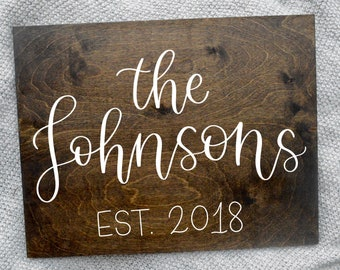 SAMPLE: Custom Wood Sign | Family Sign | Hand-Lettered Wood Canvas | Wall Decor | Personalized Gifts