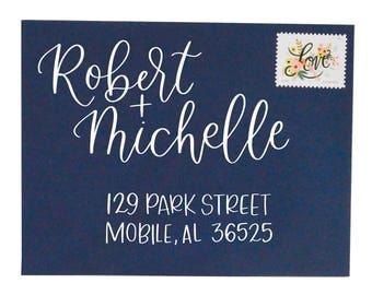 Hand-Lettered Envelopes | Cursive Envelopes | Calligraphy Envelopes | Custom Calligraphy | Wedding Invitation Calligraphy | Envelopes
