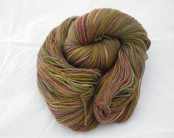 Hand Painted Dyed Superwash Wool Sock Yarn