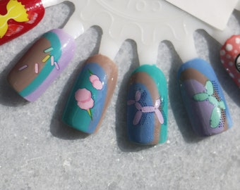 Nail Decals: Poodle Balloon Water Nail Decals Summer Sale!!!