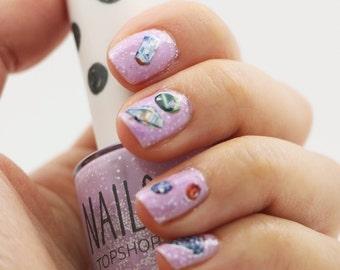 Nail Decals: Gemstones Water Nail Decals
