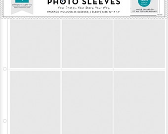 """Photo Freedom Photo Sleeves/Protectors, 12X12"""" Scrapbook Album Pages, Set of 5"""