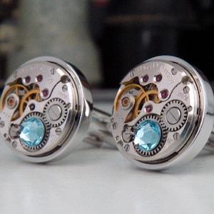 Steampunk Moon Cufflinks Victorian  Cuff Links Vintage