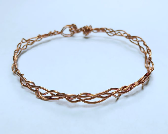Copper Bracelet, Wire Bracelet, Braided Bracelet, Copper Wire Brcelet, Woven Bracelet, Woven Wire Bracelet, Pure Copper Bracelet, Wire Wrap