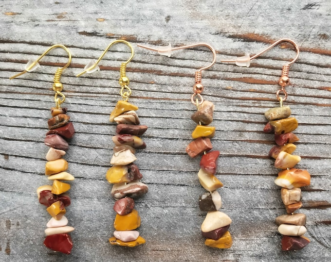 Mookaite Earrings, Mookaite Jewelry, Australian Jasper, Mookaite Stone, Stone Earrings, Crystal Earrings, Crystal Healing, Dangle Stone