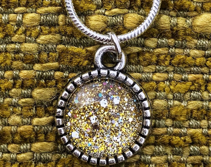 "16.5"" Stardust Holographic Dainty Necklace with 925 Sterling Silver Chain"