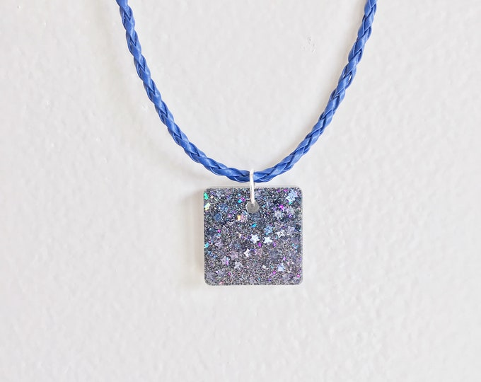 Galaxy Necklace, Galaxy Jewelry, Holographic Necklace, Holo Galaxy Necklace, Holographic Jewelry, Glitter Necklace, Holo Glitter Jewelry,