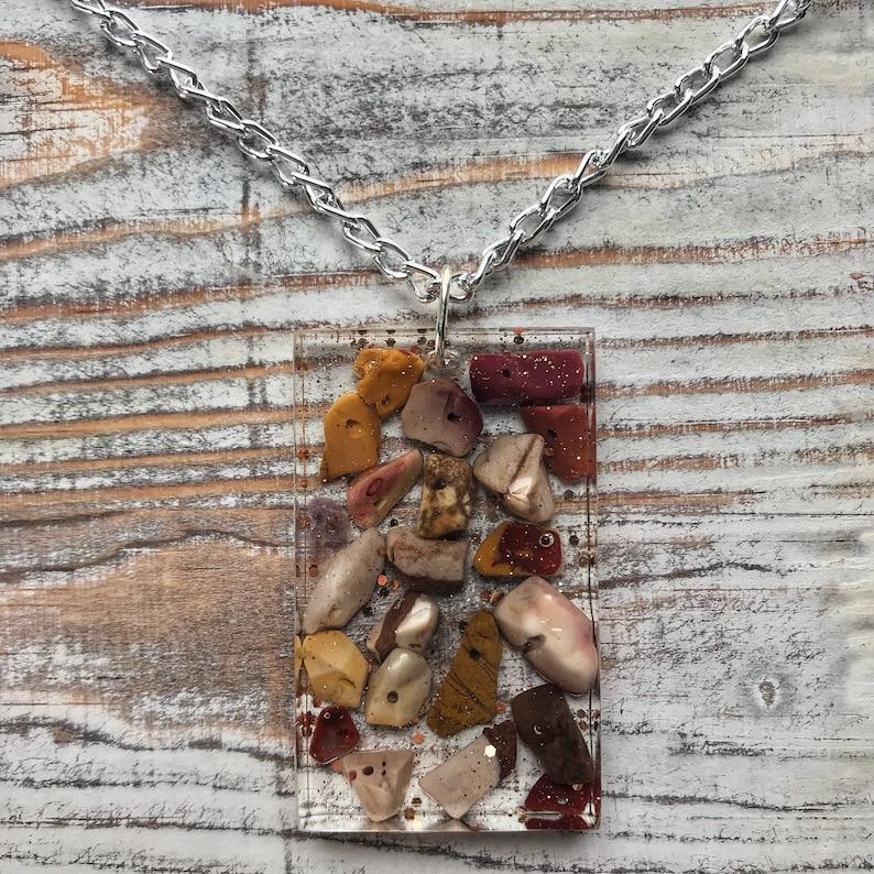 Mookaite Necklace Mookaite Jasper Gemstone Necklace 16.5 Crystal Necklace Jasper Necklace Jasper Hewelry Mookaite Jewelry