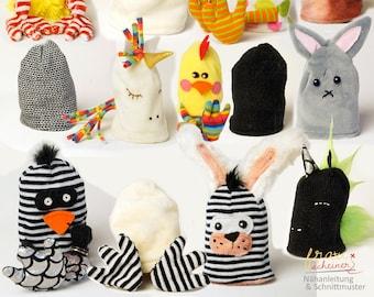 Einhorn, Küken und Hase Eierwärmer und Geschenkebeutel, DIY, Ostern, Ostergeschenk, Schnittmuster und PDF Anleitung