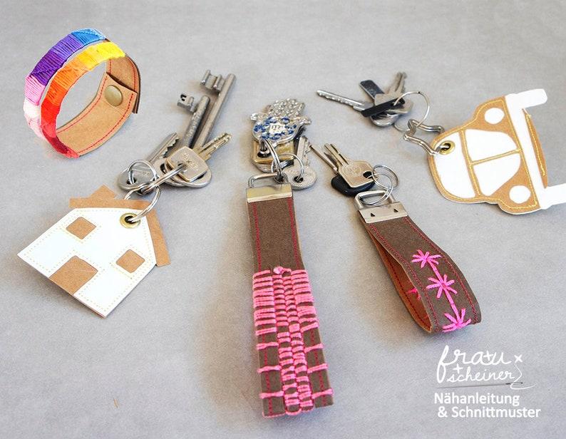 Schlüsselband und Schlüsselanhänger aus SnapPap oder Leder image 0