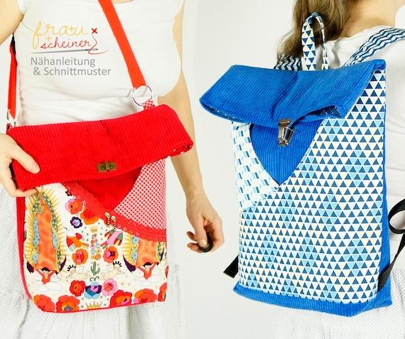 Rucksack & Schultertasche in 2 Größen mit 2 Außentaschen | Etsy