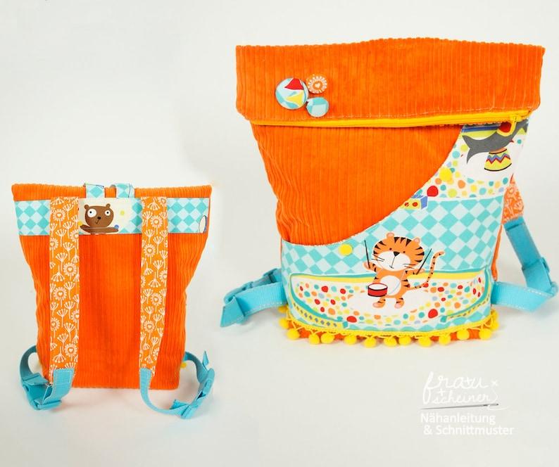 Kindergarten-Rucksack Kinderrucksack Nähanleitung und image 0