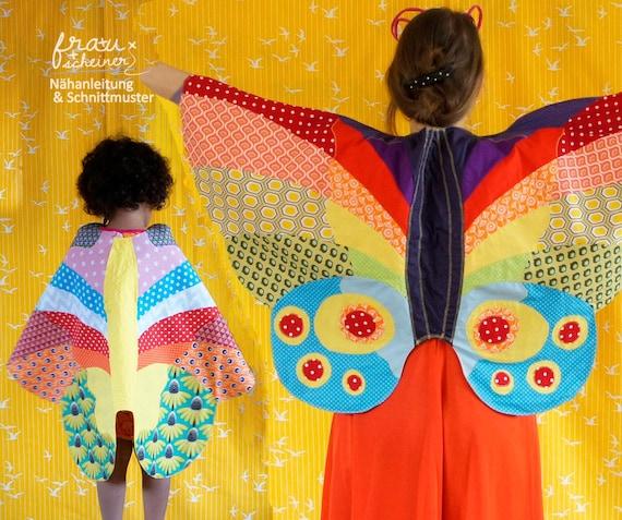 Schmetterlingflügel-Umhang Kostüm für Fastnacht Schnittmuster | Etsy