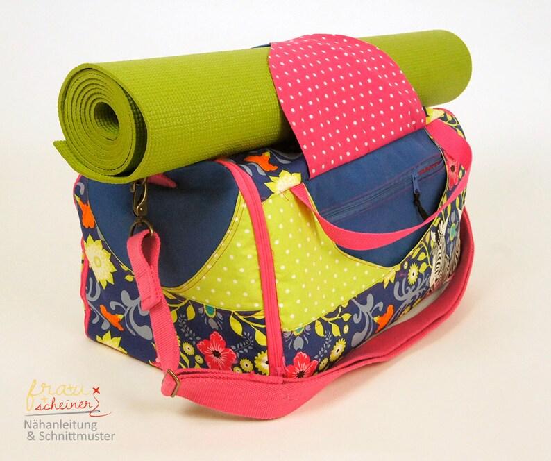 Yogatasche nähen mit Mattenhalterung Sporttasche oder image 0