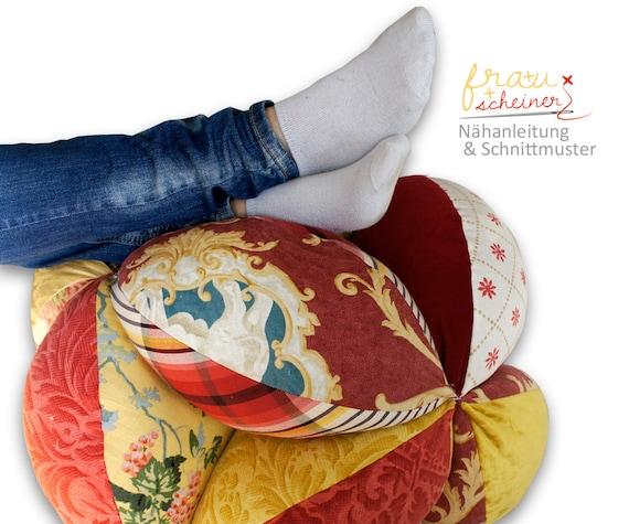 Patchwork Sitzball Und Bodenkissen Schnittmuster Und Etsy