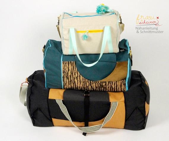 Schnittmuster Reisetasche Weekender oder Sporttasche Yogini | Etsy