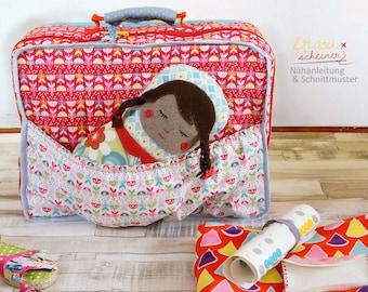 Kinder Reisekoffer oder Puppenkoffer, Schnittmuster und PDF Anleitung
