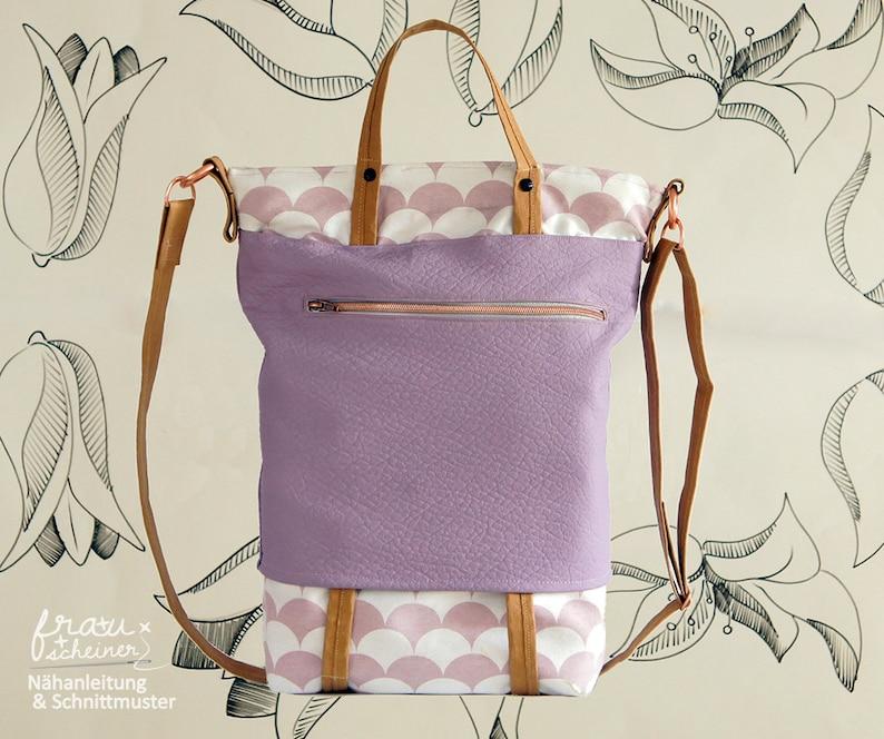 Tasche Nähanleitung Bag Schultertasche Umhängetasche image 1