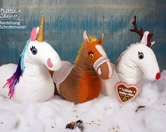 Horse sewing pattern, plush horse, rocket horse pattern and PDF sewing instruction