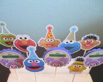 Abby Cake ToppersAbby Cadabby12Birthday ToppersSesame StreetBig BirdCupcake DecorationsElmo TopperAbby CupcakeAbby DecorAbby Party