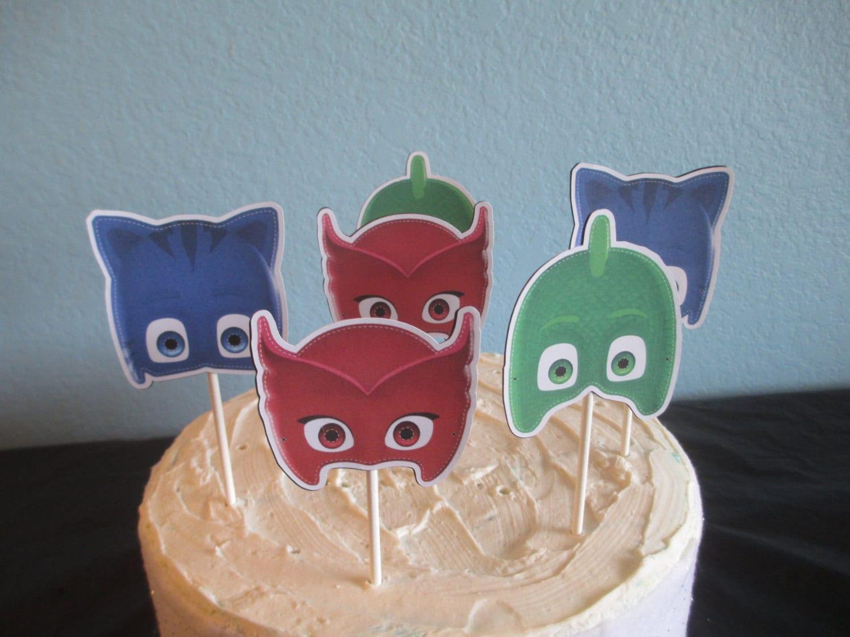 PJ Masks Cupcake Topper12pj Cake Topperpj