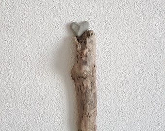 Driftwood with Hearts - Driftwood Sculpture