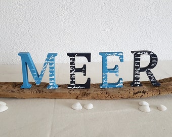 SEA letters on driftwood, for all with wanderlust and sea views