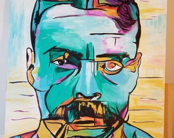 Emiliano Zapata Abstract on canvas