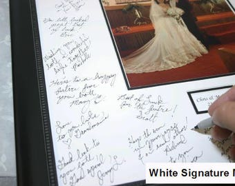 16x20 Signature Mat WITH Frame. White with Black Frame . Personalized for your wedding or event. top selling items - 10608