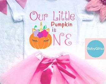 Fall First Girls Birthday Outfit Pumpkin Girl 1st Bodysuit Tutu Smash Cake