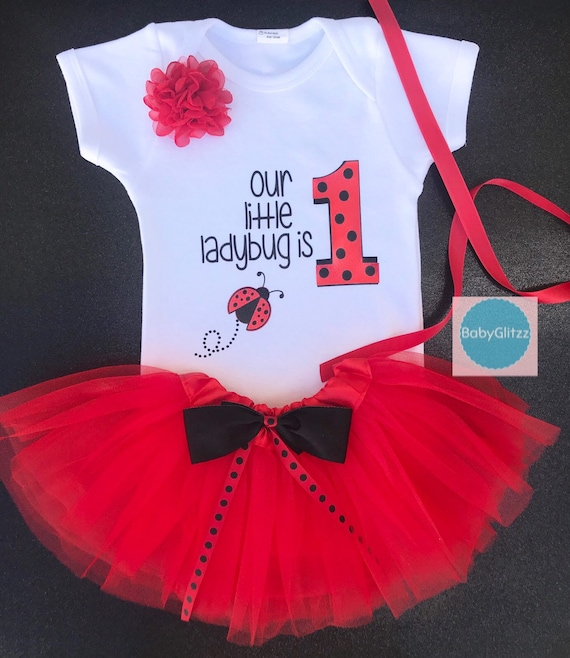 Lady Bug First Birthday Outfit Girl