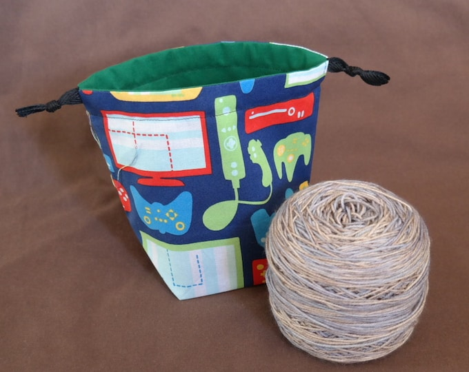 Reversible, Drawstring Yarn Cake bag