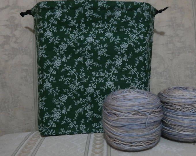 Vines: Large Drawstring Project bag