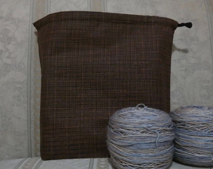 Brown town: Large Drawstring Project bag
