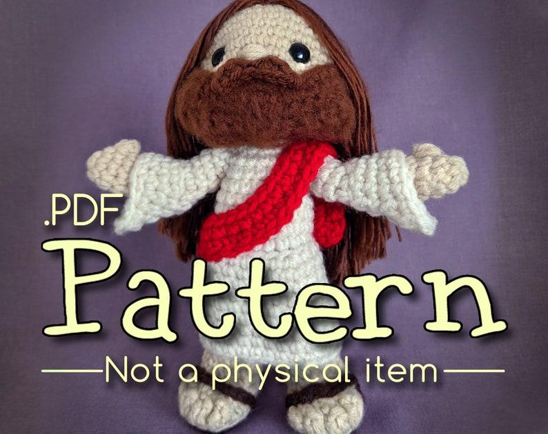 Jesus Crochet Amigurumi Pattern image 0