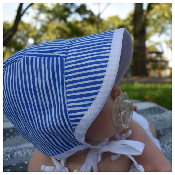 sun bonnet newborn to toddler sizes made to order Green baby sun hat with feathers summer hat baby bonnet 12-18 months ready