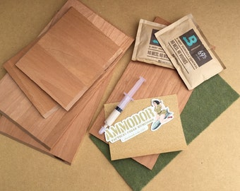 DIY Cigar Humidor Kit - Build your own humidor from repurposed .50 cal metal ammunition box