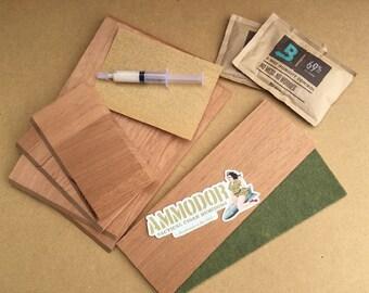 DIY Cigar Humidor Kit - Build your own cigar humidor from repurpsed .30 cal metal ammunition box