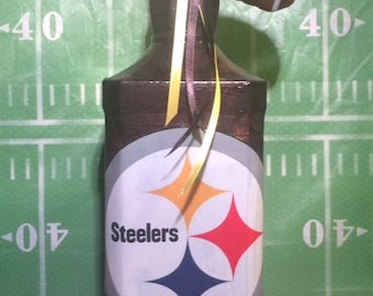Pitsburg Steelers Decoupaged Lighted Bottle
