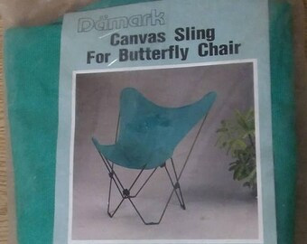 """On Sale, """"Damark"""" Canvas Sling, Butterfly Chair, Kelly Green, Chair Seat, 100% Cotton, Replacement Seat Butterfly Chair,"""