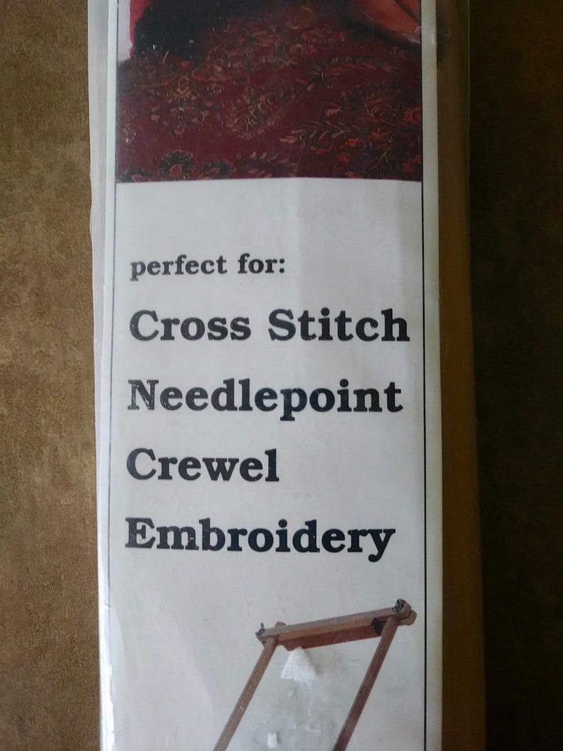 Crewel Cross Stitch Edmunds Hardwood Split Rail Scroll Frame 8.5 x 18 Needlepoint On Sale F.A Model 2999 Vintage and NEW Embroider