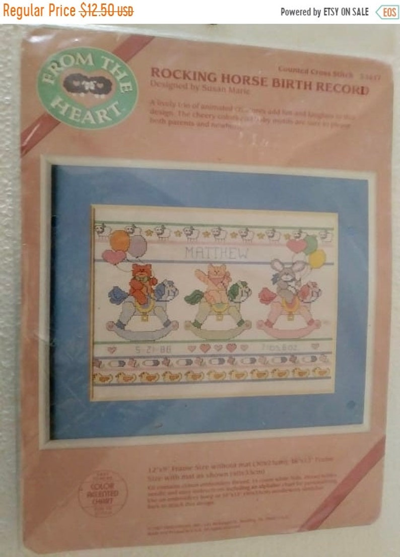 "14 Count Dimensions Counted Cross Stitch Kit 12/""X9/""-Pet Friends Birth Record"