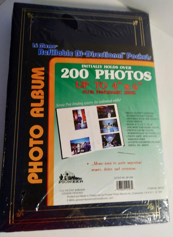 On Sale New Pioneer Photo Album 200 Bi Directional Slip In Etsy