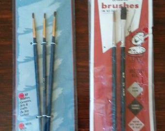 On Sale, Artist's Paint Brushes, Darice & Artcraft, Fine Red Sable and Ox Hair, Arts, Crafts, Hobbies, Ceramics, Japan/Korea, VINTAGE NEW