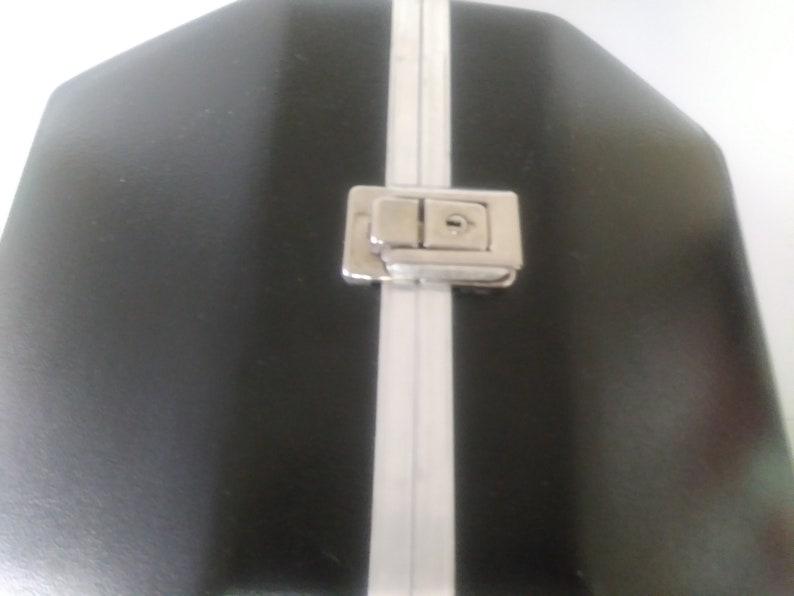 On Sale Computer Accessories Collectibles Cycolac Case Train Case Vintage Hexagonal Black Locking Case Football Helmet 12.5 x 13