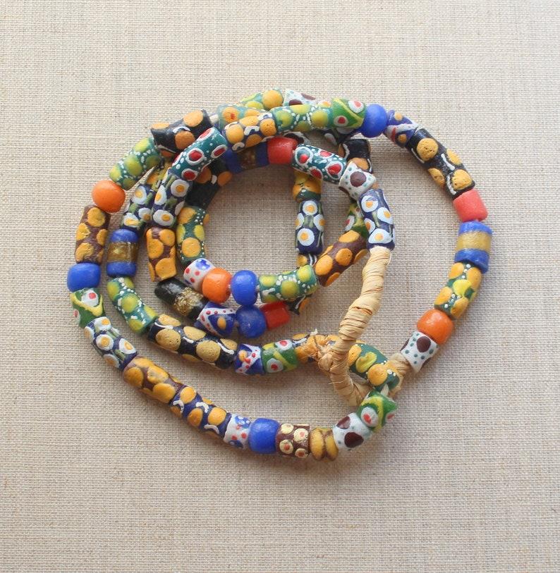 Venetian Millefiori African Trade Bead 39 Inch 66 Beads Trade Bead Necklace Vintage Venetian Trade Bead Antique African Trade Bead