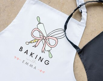 Personalised baking with adult apron, Personalised apron, Mother's day gift