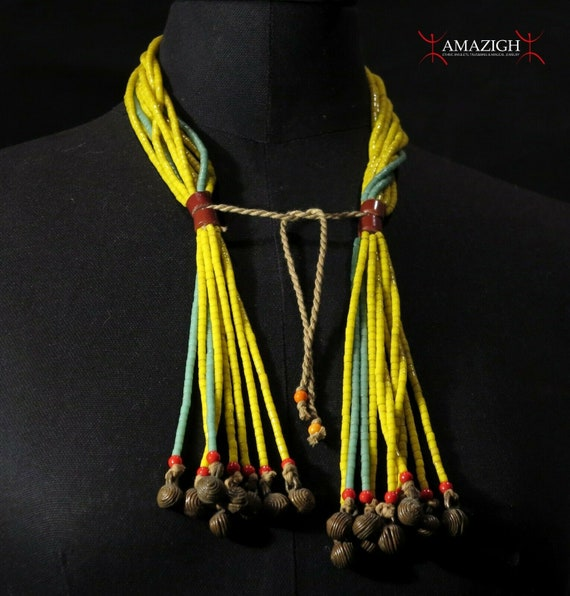 West Africa Old Bauxite Small Abo Beads Strand Necklace