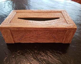 Ceramic Tissue Cover / Wood Grain Look Tissue Box Cover / Ceramic Home Decor / Obrokta Ceramics